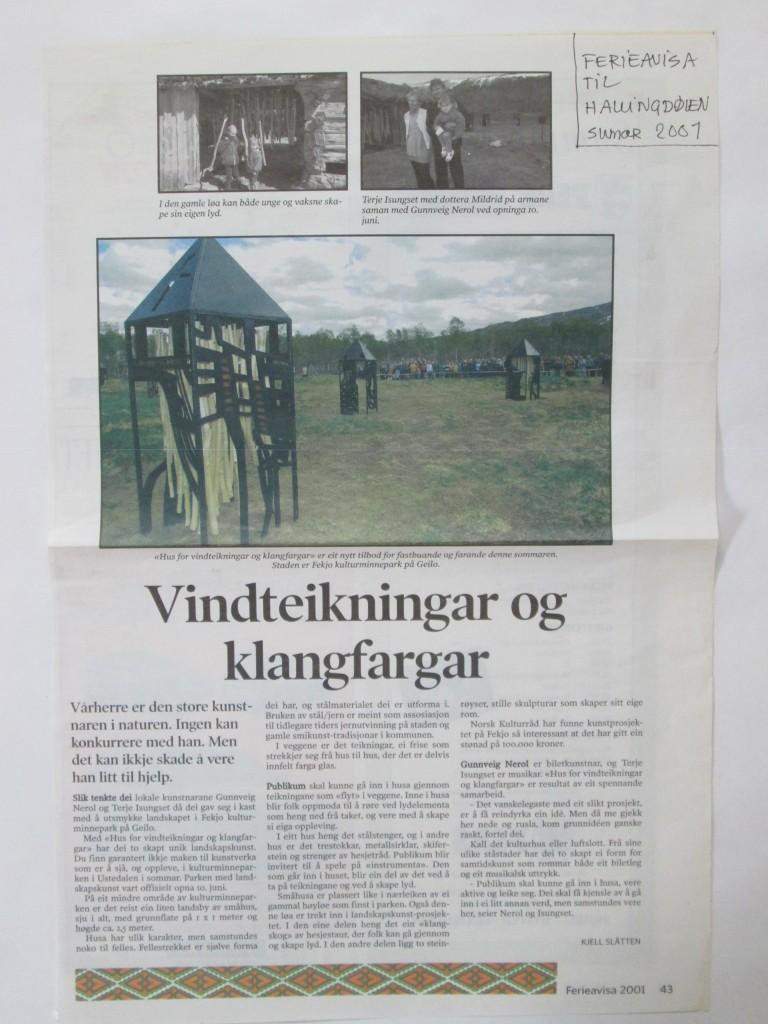 Fekjo Kulturminnepark 2001